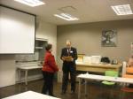Jill Tatem presenting Bill Barrow with his award