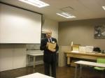 Bill Barrow, award in hand